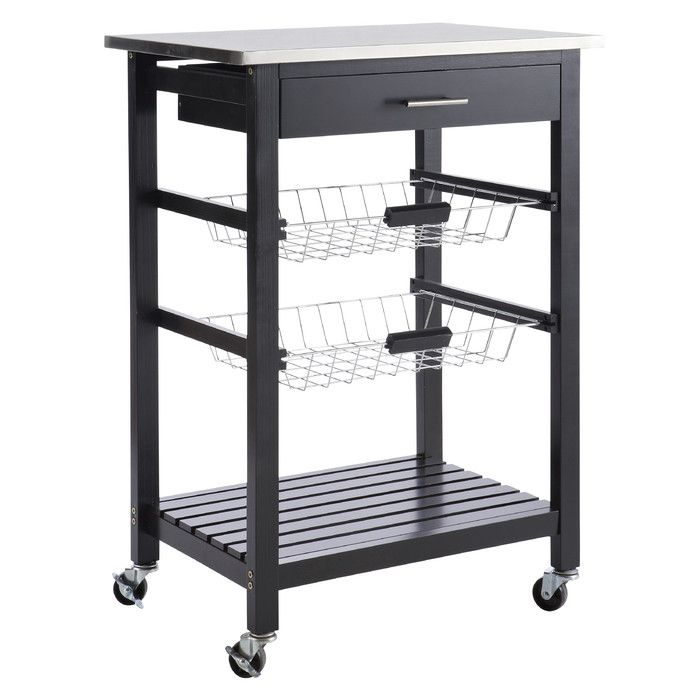 Home Etc Cookies Kitchen Trolley with Stainless Steel Top & Reviews | Wayfair.co.uk