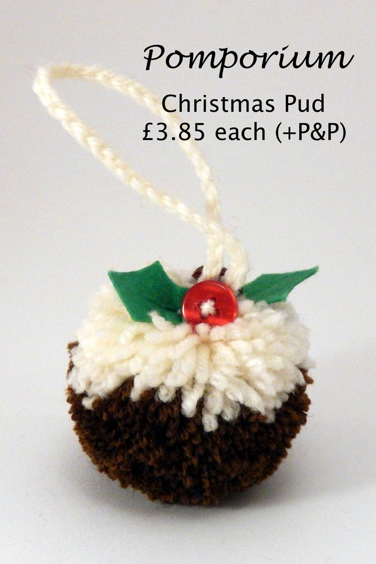 My little Christmas pud. Can be ordered through my Facebook page @ Pomporium.