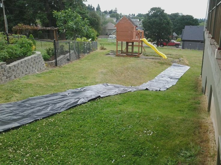 Homemade Slip N Slide Heavy Duty black plastic sheeting