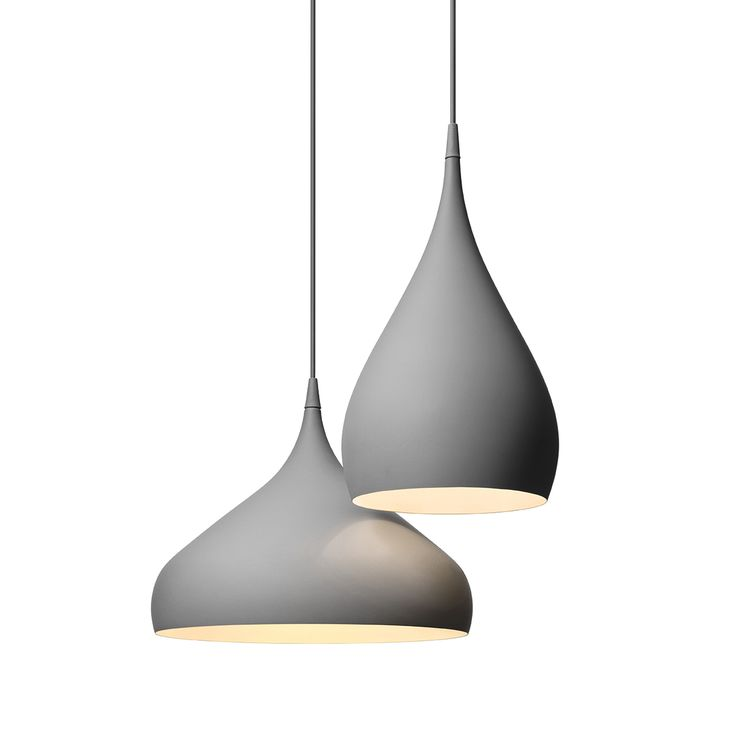Benjamin Hubert's Spinning pendants are available in Matte Grey, White, and Black.