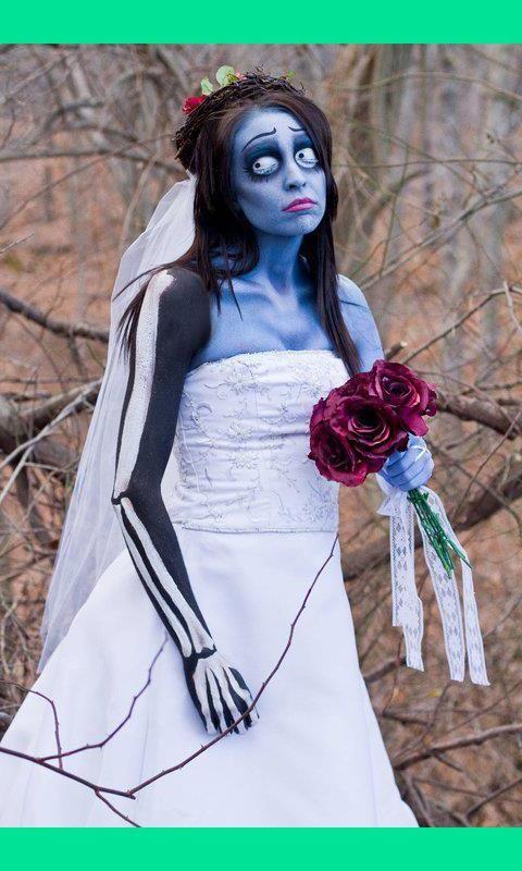 corpse bride makeupHalloweencostumes, Wedding Dressses, Diy Halloween Costumes, Brides Makeup, Halloween Makeup, Corps Brides, Tim Burton, Corpse Brides, Costumes Ideas
