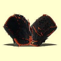 "This Mizuno MVP Prime SE 12.5"" Fastpitch Softball Glove (GMVP1250PSEF6 Black / Orange) comes with a closed Trident web making it a great option for infielders, outfielders, and pitchers."