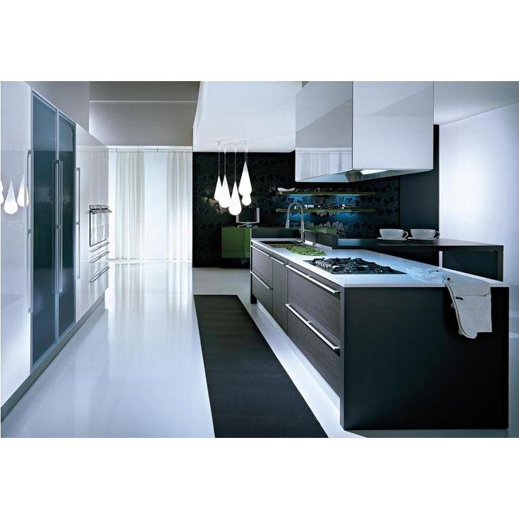 Minimál - fekete-fehér konyha