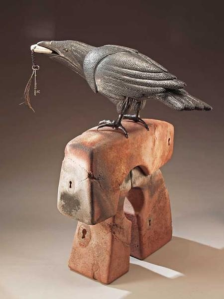 Key to the Question  //  larson clayworks: Clay Projects, Crows Ravens, Larson Claywork, Ceramics Clay Decor, Crows Blackbird, Art Ravens, Pat Larson, Black Birds, Www Larsonclaywork Com
