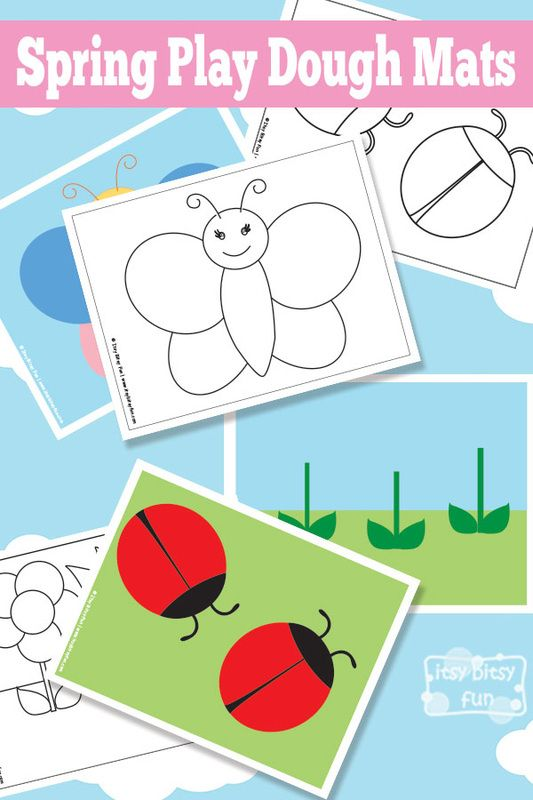 Free Printable Spring Play Dough Mats