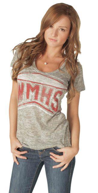 Glee WMHS William McKinley High School Heather Gray Burnout Boyfriend Juniors T-shirt $23.95