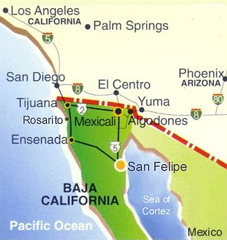 San Felipe, BC, Mexico--for those wondering where it is in relation to southern California