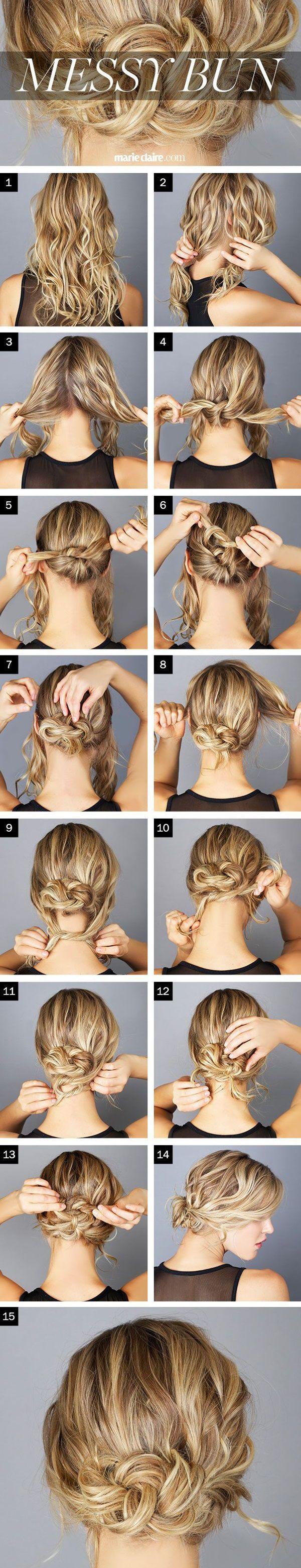 easy sexy beautiful bun hairstyles tutorials how to make messy bun