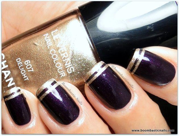 Chanel Taboo & Delight tips by BoombasticNails - Nail Art Gallery nailartgallery.nailsmag.com by Nails Magazine www.nailsmag.com #nailart
