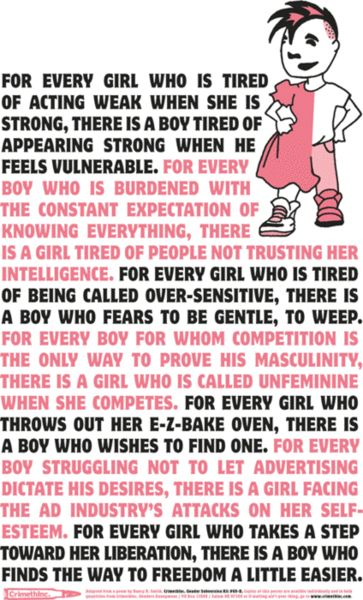 """""""... For every girl who throws out her E-Z bake oven, there is a boy who wishes to find one. ..."""""""