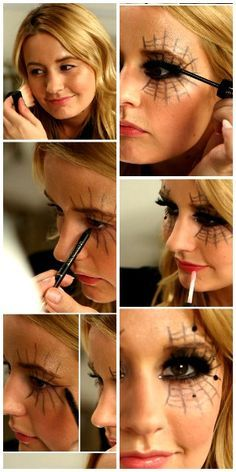 Black Widow With your mascara, you can create a magical look based on a spider's web!