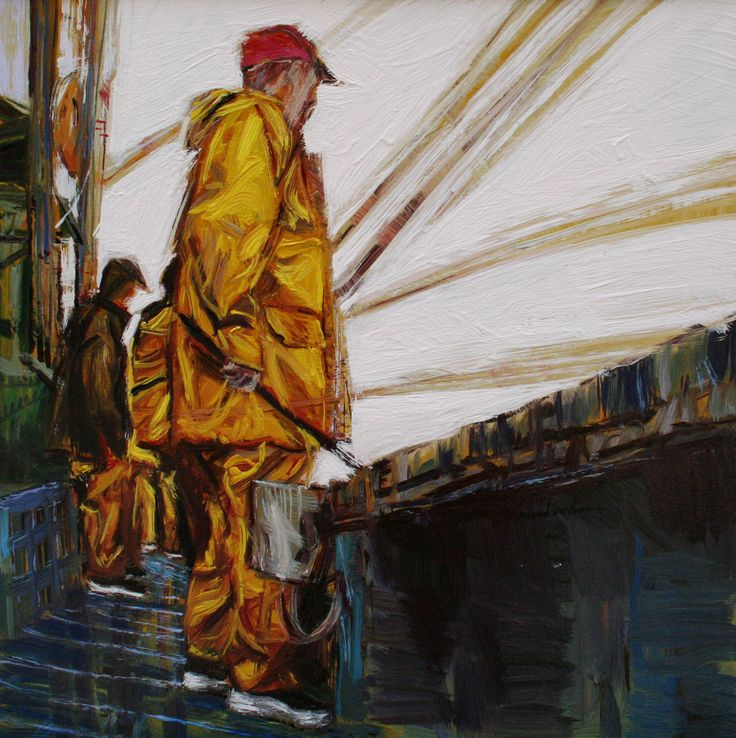 Pescadores en alta mar