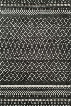 """Tangier Charcoal, 2'x2'11"""" transitional-doormats"""