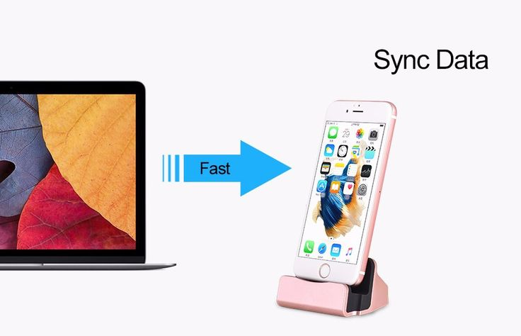 Aluminium Alloy Desktop Data Sync Charging Stand Base Dock Station For iPhone 7 6 6S Plus 5 5S