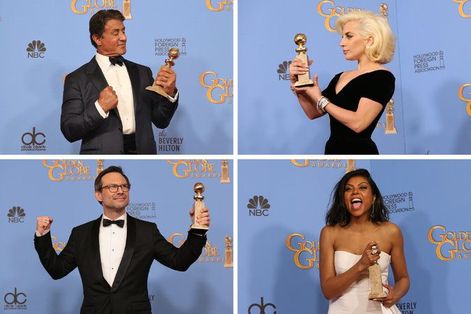 A look at the films, television shows and actors who won at the 73rd Golden Globe Awards.