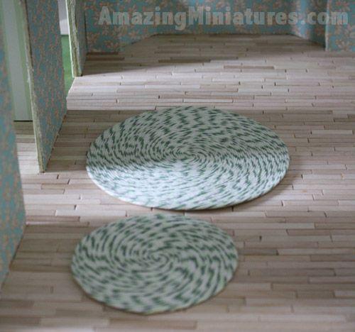 Super Simple Dollhouse Rug Tutorial by AmazingMiniatures.com