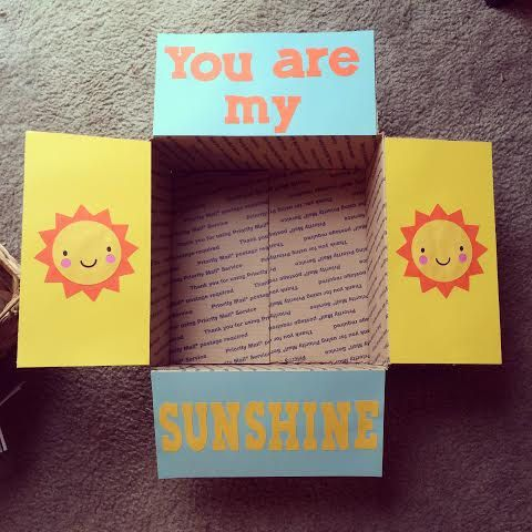 You Are My Sunshine Care Package Flaps by LoveFromHomePackages