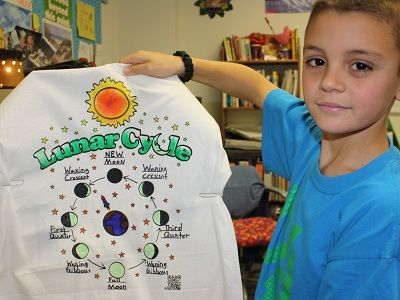 Lunar Cycle Project: Dark Shirts, Science Shirts, Class Projects, Kids Labels, Science Projects, Parenting Kids, Cycle Projects, Cycling T Shirts, Cool Shirts