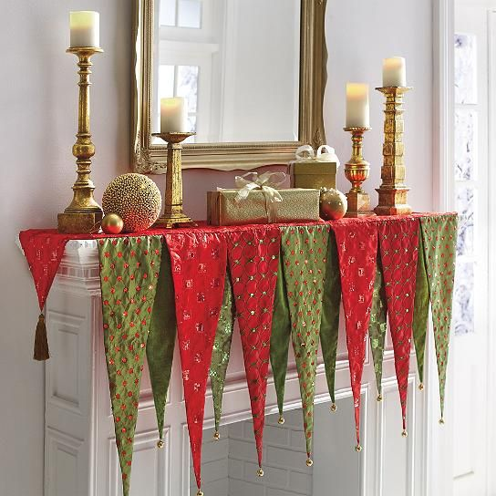 9 best mantle scarf images on Pinterest | Christmas ...