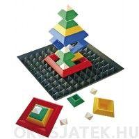 Háromszögek és négyszögek építő játék gyerekeknek alaplappal (367)