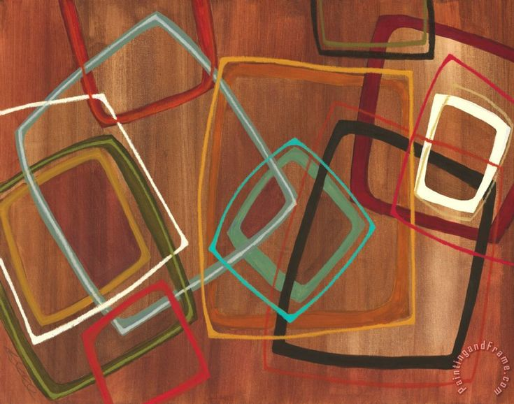 Jeni Lee Twenty Tuesday II Brown Square Abstract painting - Twenty ...