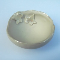 Porcelain Ceramic Decorative Small Ivy Bowl - Great birthday present - jewellery holder
