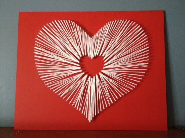 string art heart | Heart string art.... For February. | String Art
