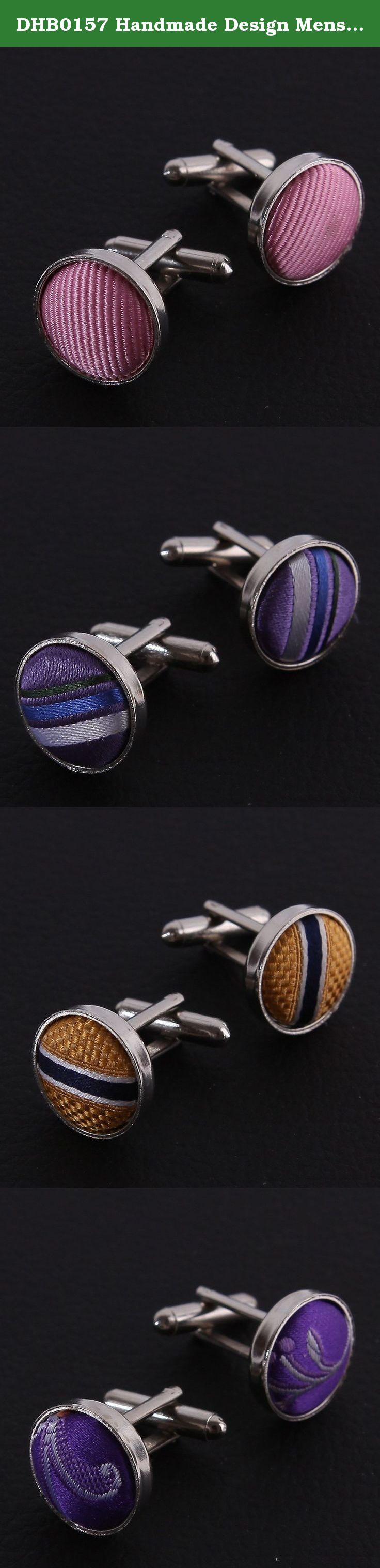DHB0157 Handmade Design Mens Cufflinks Multi-coloured Jewelry for Men 4 Pairs of Silk Cufflinks Package Set By Dan Smith. Headquartered in Sydney, Australia, FashionOn is a multichannel online retailer and wholesaler with huge range that has a strong focus on fashionable men's and women's accessories, including ties, bow ties, cufflinks, vest sets, hankies, suspenders, cummerbunds, money clips, necklaces and bracelets. FashionOn has a philosophy of continuous service improvement, which is...
