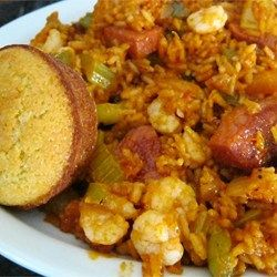 Shrimp and chicken simmer with classic jambalaya ingredients in this easy slow cooker meal.