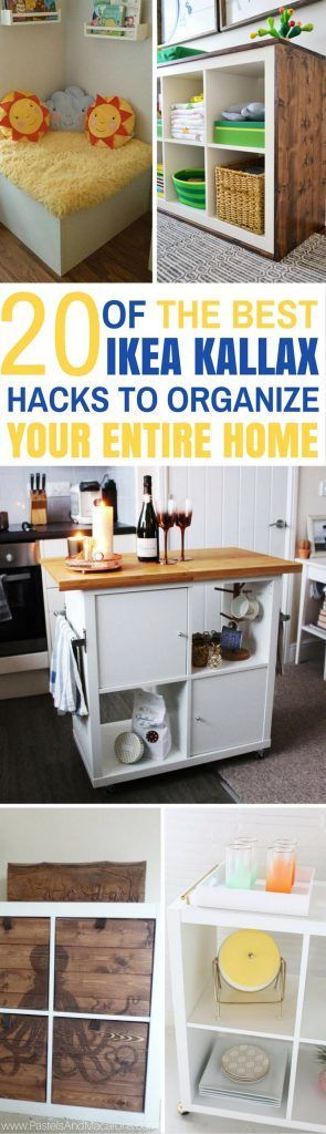 These really are THE BEST Ikea Kallax hacks for around the home. Not only do they look unique but I can see myself using them to organize every room in my house. So much DIY inspiration. Thanks for all the great ideas.