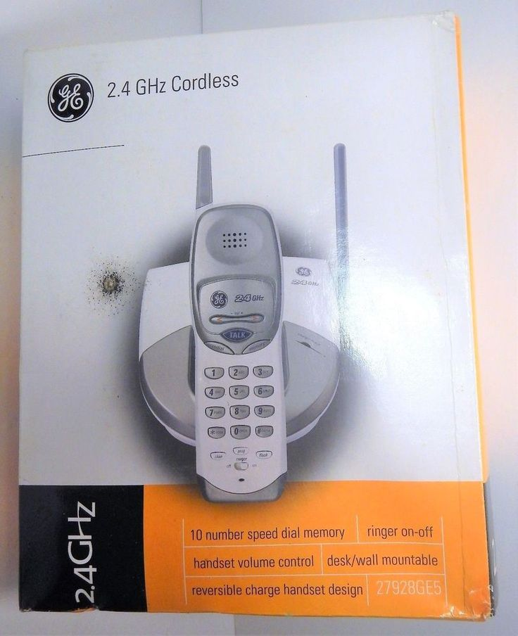GE 27928GE5 Cordless Telephone Handset White 2.4 GHz Hearing Aid Compatible NEW #GE