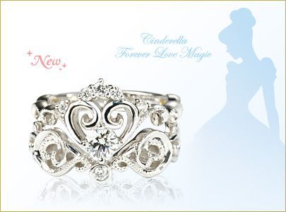 Cinderella engagement rings and wedding band from Tokyo Disney Store..... @tarapennington ill be there in August tell Chris to let me know here...,