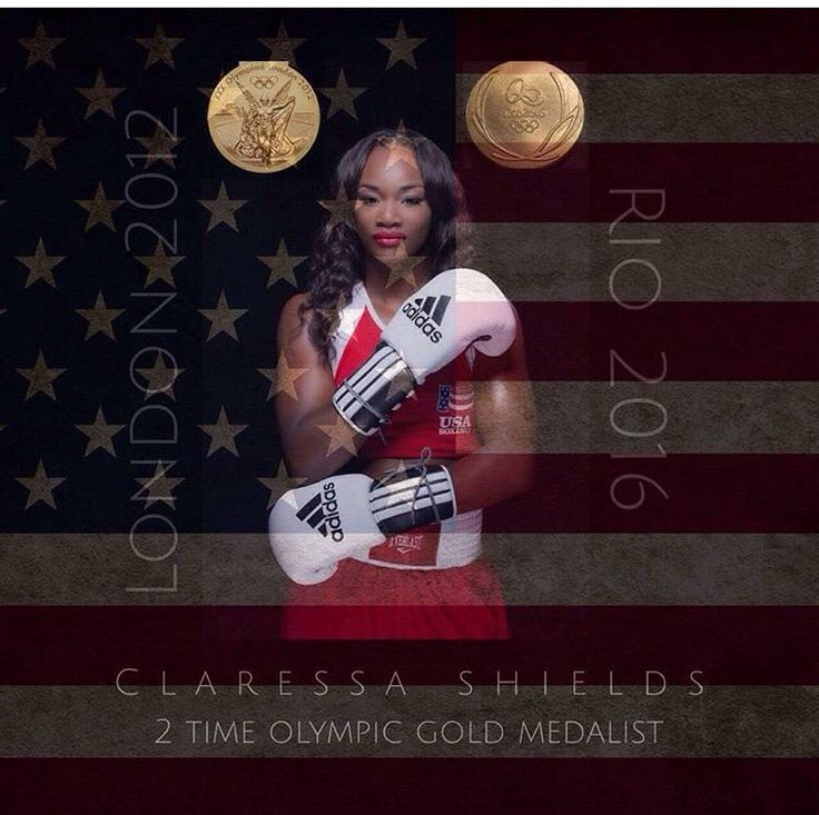"""""""Congrats to Claressa Shields 2x Olympic Gold Medal Winner . You put on for USA sister""""   via Hammerin Hank Lundy · BACK-TO-BACK.  Claressa Shields beats Nouchka Fontijn by unanimous decision to win women's boxing GOLD! Again! 8/21/16"""