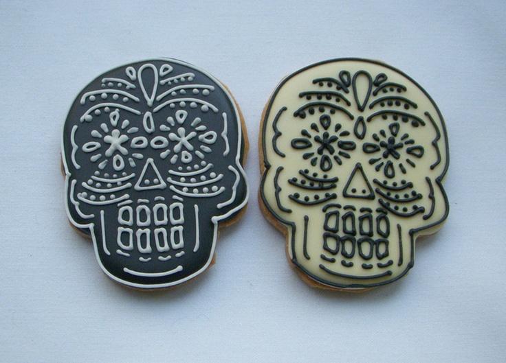 cookies: Cookies Art, Cookies Monsters, Calavera Cookies, Skull Cookies, Decor Cookies, Tough Cookies, Food Blog, Favorite Food, Cookies 100
