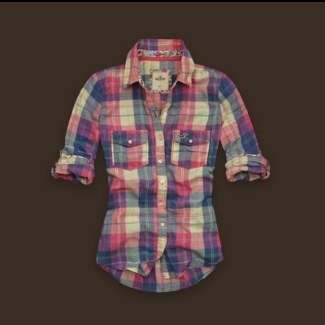 Plaid Hollister shirt