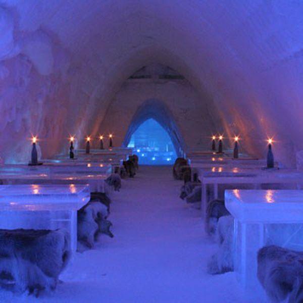 Lainio Snow Village Ice Restaurant: Ylläsjärvi, Finland