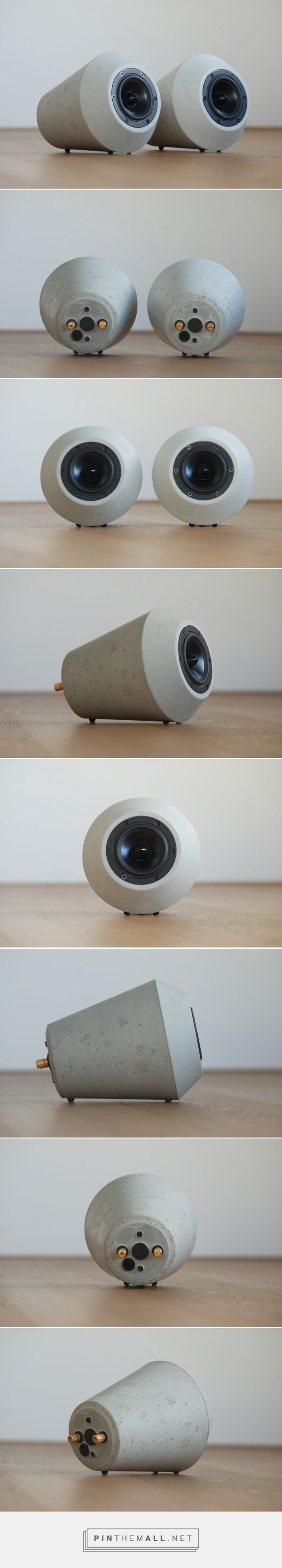 Tontreu No.1 Concrete Speakers | Designboom Shop - created via https://pinthemall.net