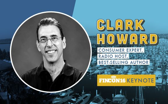 Consumer Champion Clark Howard to Address #FinCon16, Largest Collection of Personal Finance Nerds Ever Assembled