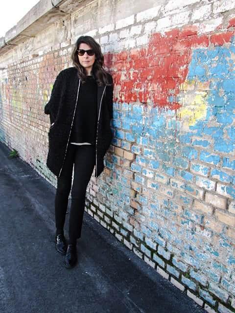 stringate... Coat Black outfit!!!