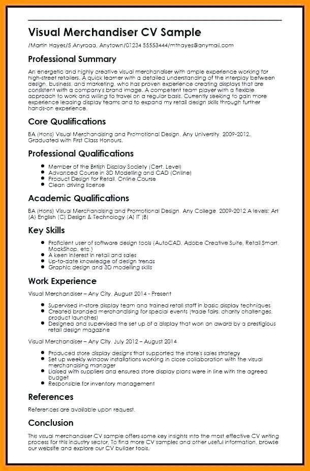 Visual Merchandising Resume Samples Lovely Visual Merchandiser Resume Sample Visual Merchandising Resume Job Description