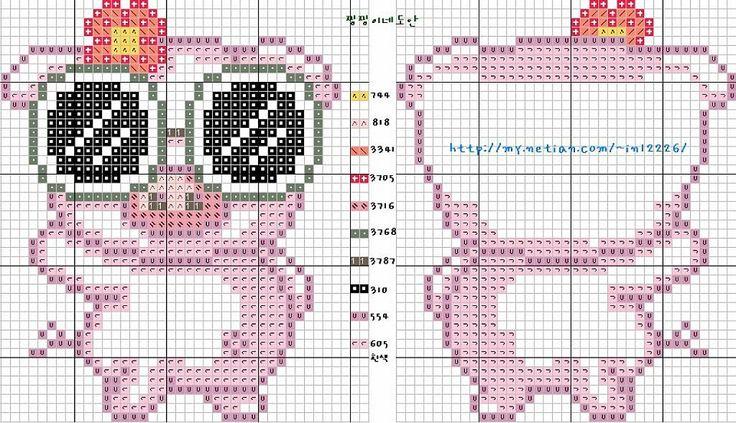 patrones de llaveros a punto de cruz (pág. 4) | Aprender manualidades es facilisimo.com