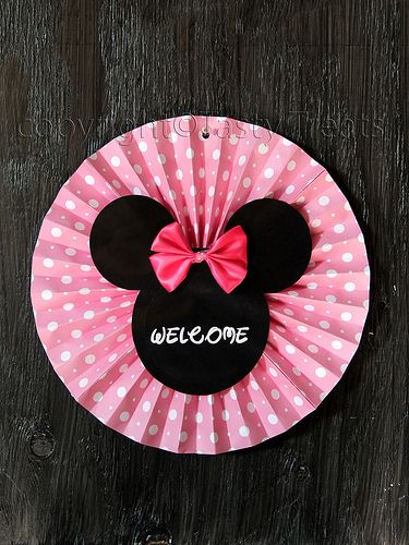 Minnie Mouse Birthday Decorations - Welcome Sign for the Door by Poornima Nair, via Flickr