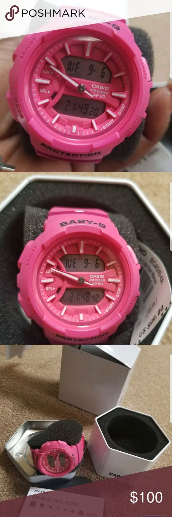 Pink Baby G shock New watxh tags included G-Shock Accessories Watches