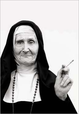 Wrinkled nun smoking cigarette Norbert SCHAEFERT - I aspire to photography that depicts images as moving as this!