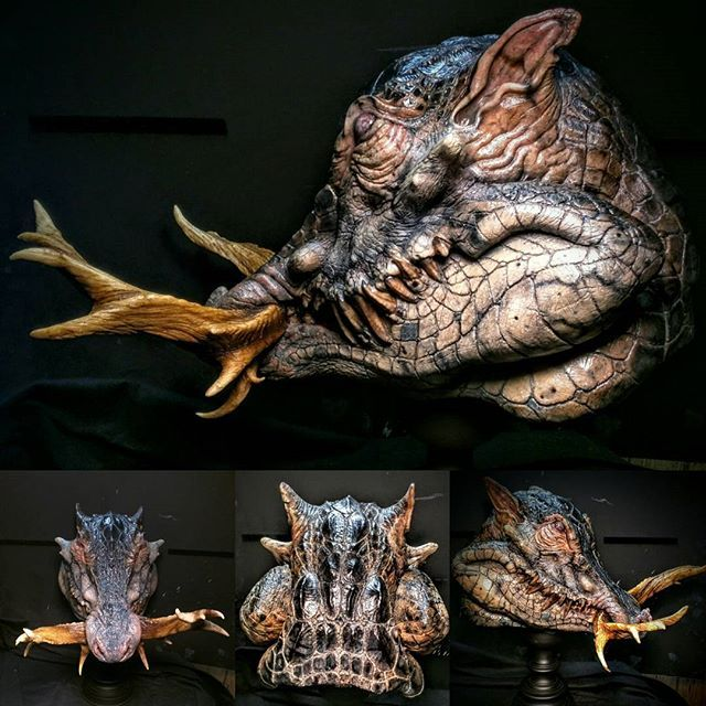 ~Bayou Boar-Croc® Latex mask....This is for the show- Art of the Halloween mask where it's for sale. Painted with @tgoreart Bloodline paints @createxcolors . #EM217WED  #seriousrubber #latexmask #latex #WEDclay #vtgmasks #halloween #halloween2016 #yoga #football #instagram #picoftheday #pizza #dwellinglatex #instapic #hog #gator #croc #beautiful #love #hybrid #cosplay #Sculpture