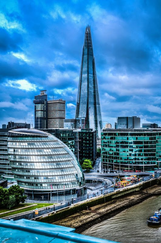 The Shard and Armadillo from Tower Bridge #england #BTPCityscapePro – +BTP Ci...