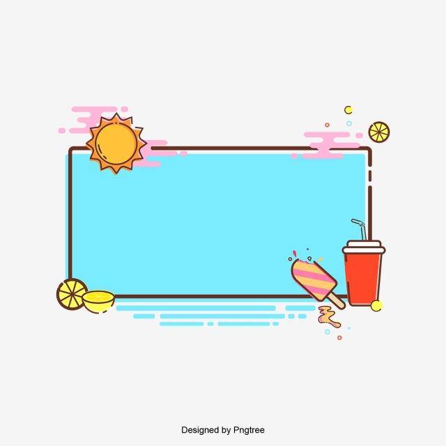 Cartoon Cute Frame With Lovely Pattern Cartoon Cute Frame Png And Vector With Transparent Background For Free Download Cute Frames Kawaii Wallpaper Colorful Backgrounds