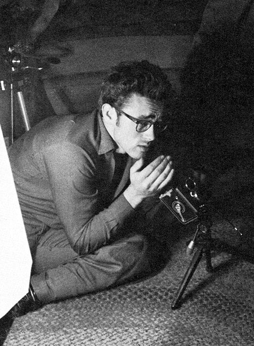 James Dean with a Rollei