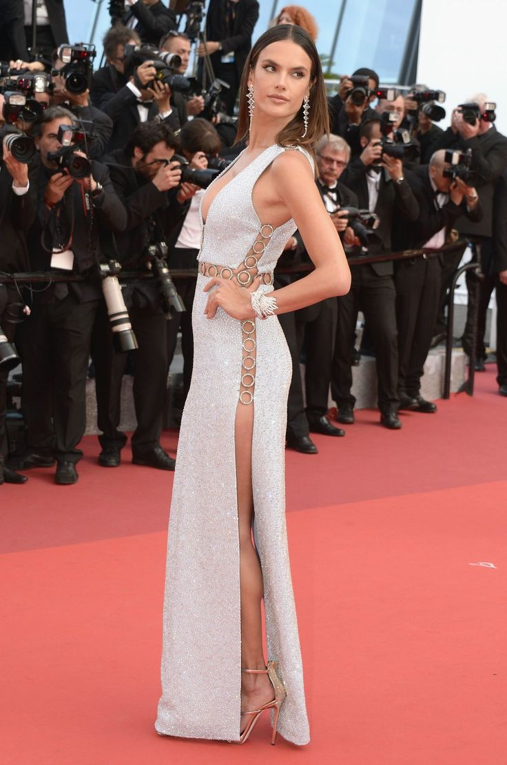 """Alessandra Ambrosio in Michael Kors Collection and Giuseppe Zanotti Design heels attends """"The Unknown Girl"""" Premiere on May 18, 2016 #Cannes2016"""