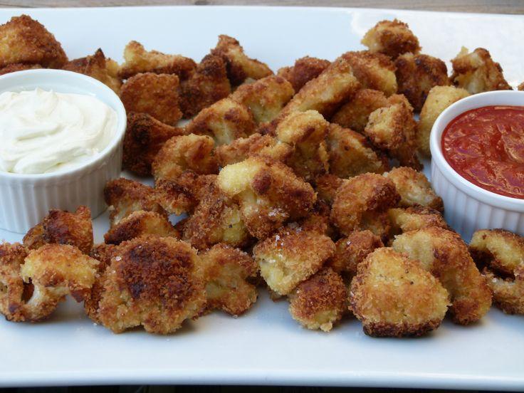 crunchy cauliflower recipe -- you can bake these!